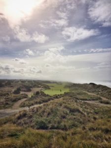 Bandon Dunes Hole 5 view from alternative tee box green